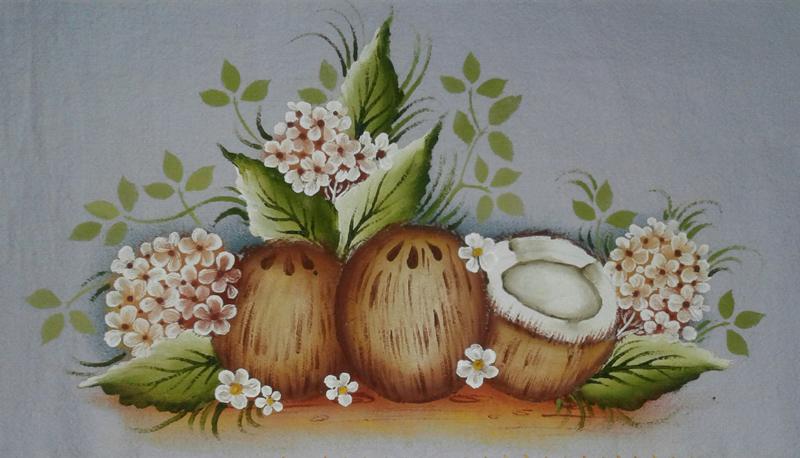 pintura em pano de copa coco