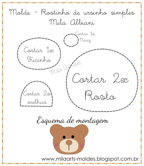 Molde De Urso Em Feltro 19 Moldelos De Ursinhos Artesanato