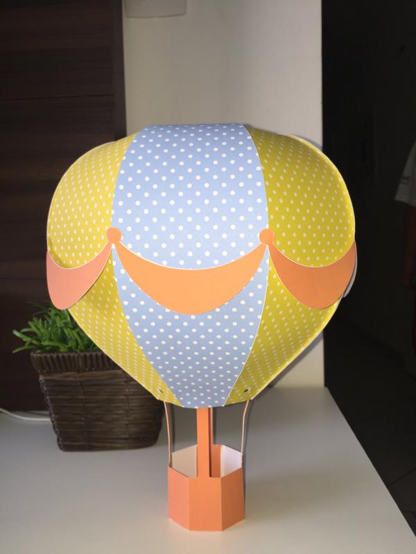 balão com papel 3d