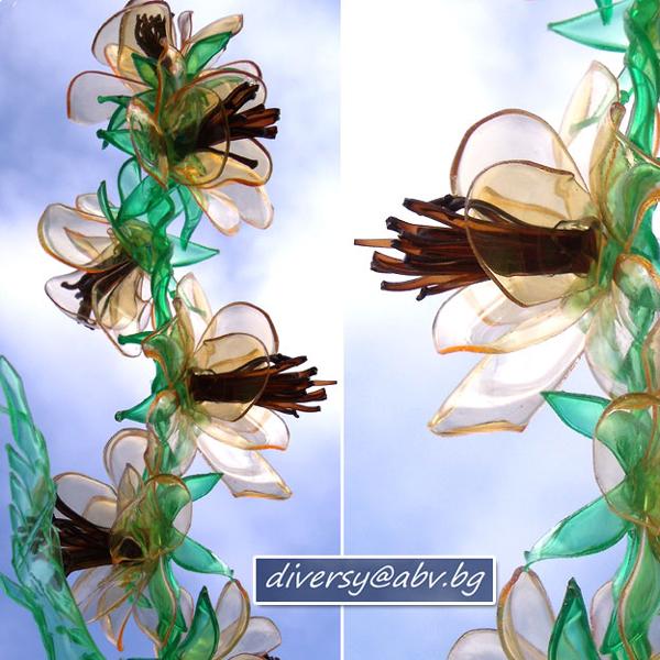 flor de garrafa pet diferenete