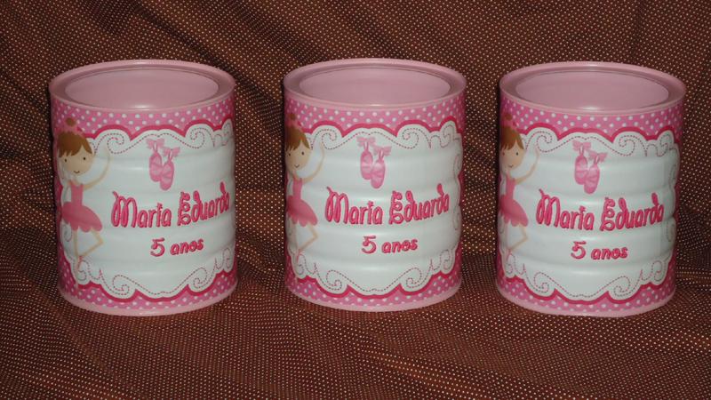 lata de leite decorada rosa