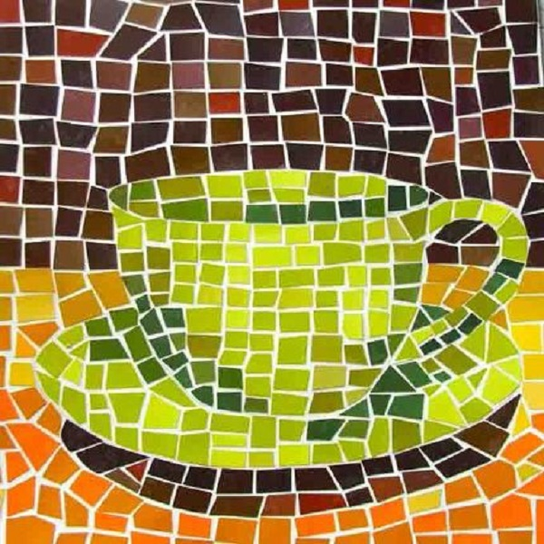 mosaico de papel xicara