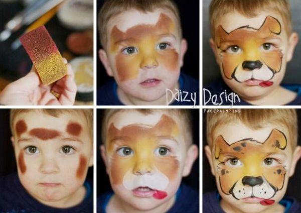 pintura em rosto onça
