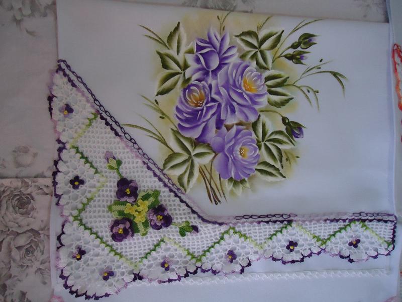 pintura em pano de copa flores