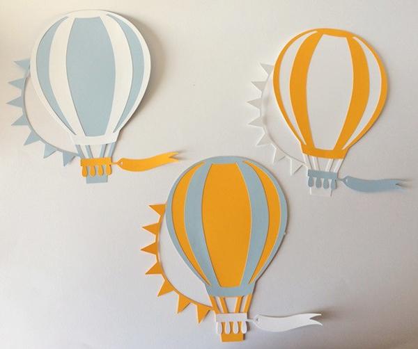 balão com papel para parede