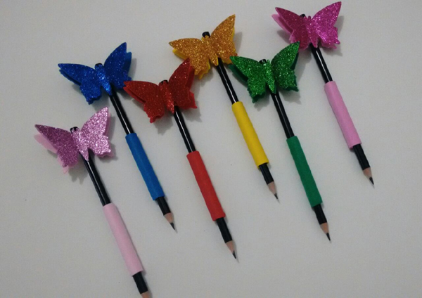 borboleta na caneta