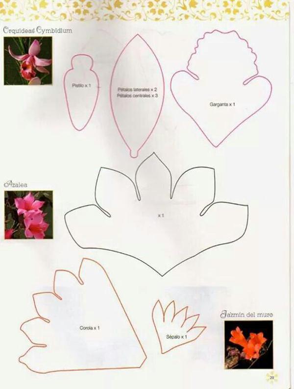 molde flor bonita