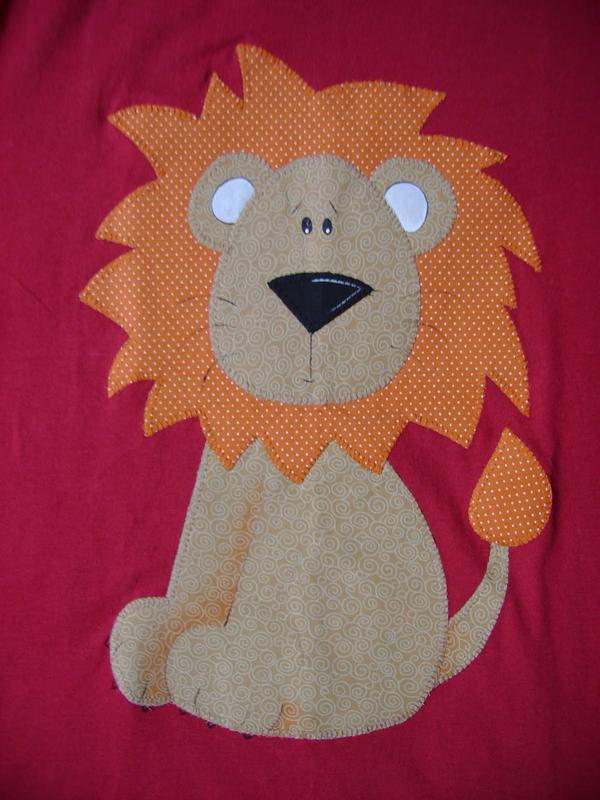 leão de patchwork
