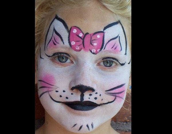 pintura em rosto gata