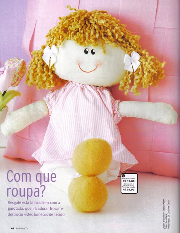 boneca de tecido simples