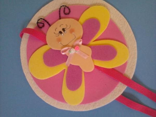 marcador de livro em eva de cd