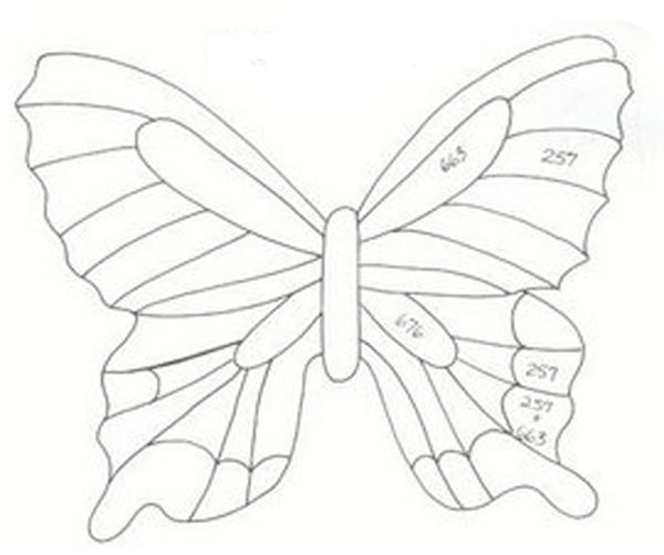 molde de borboleta vazada