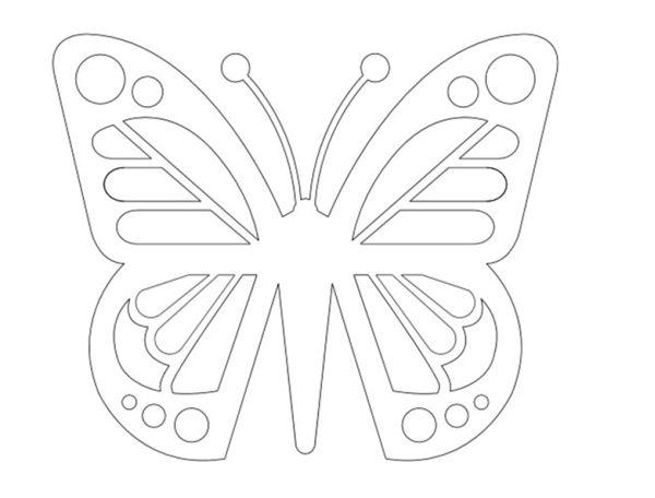 molde vazado de borboleta