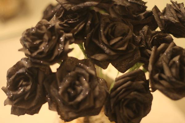 arranjo de rosa negra