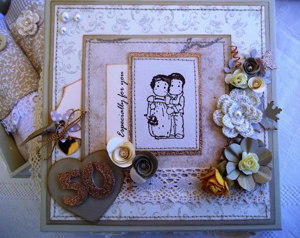 lembrança bodas de ouro quadro