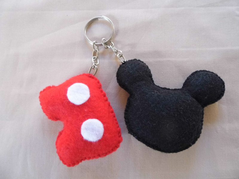 chaveiro feltro do Mickey