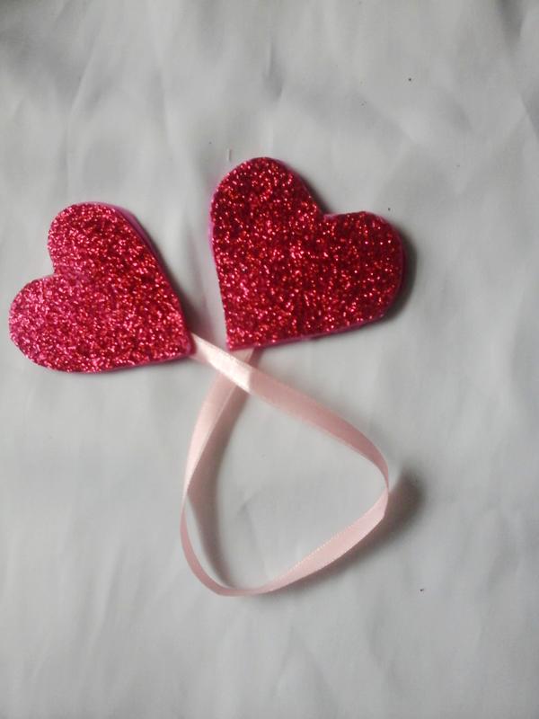 marcador de livro em eva de coração