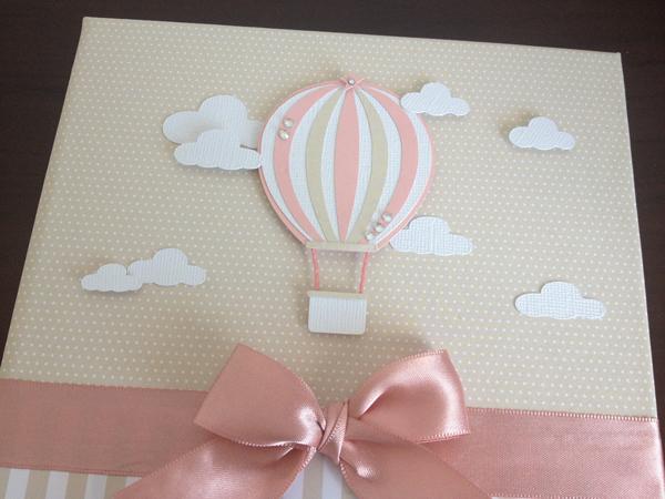 balão com papel para capa