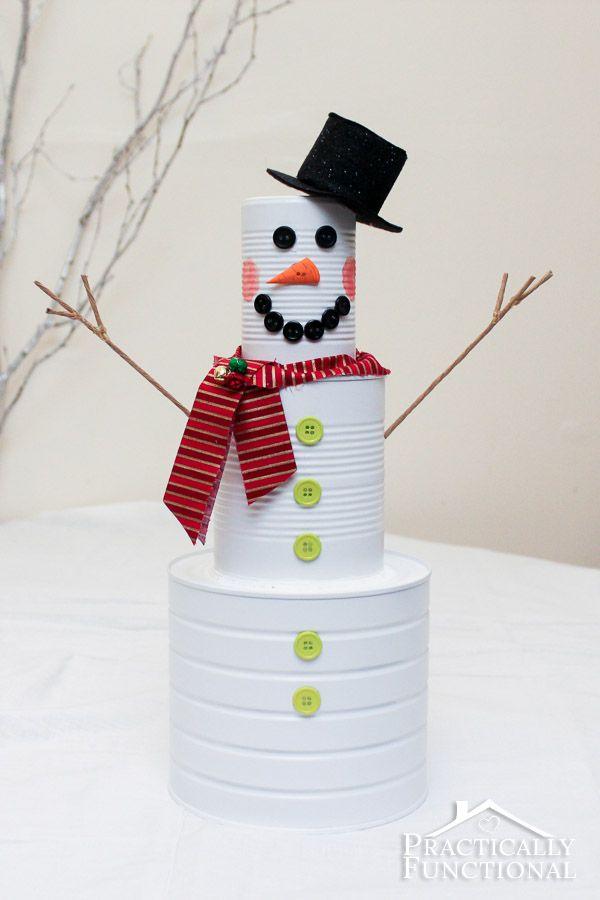 boneco de neve de lata