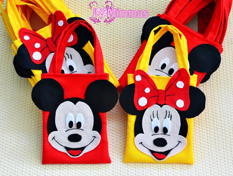 sacola feltro do Mickey