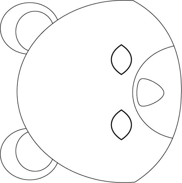 urso em feltro cabeça chaveiro