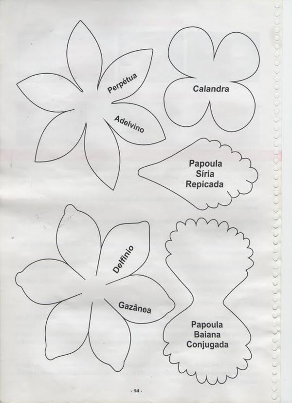 flor em EVA molde facil