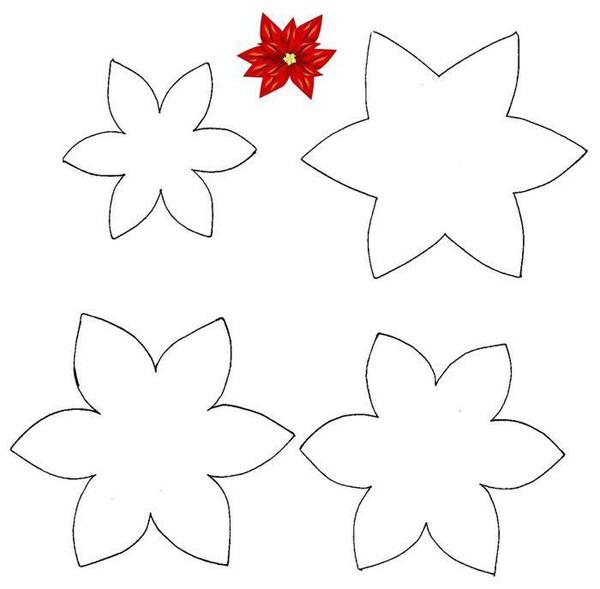 flor em EVA vermelha