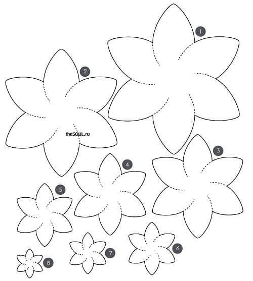 flores de tecido para vestido