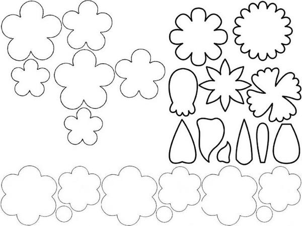 vários tipos de flor em EVA