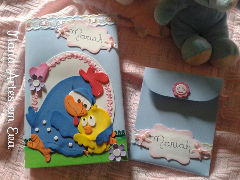 caderneta com galinha