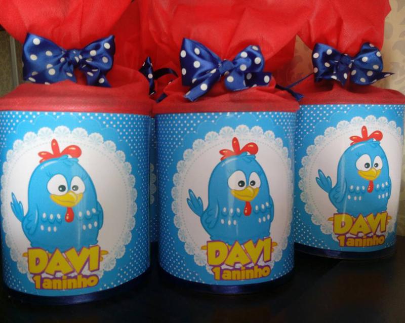 lata de leite decorada galinha pintadinha