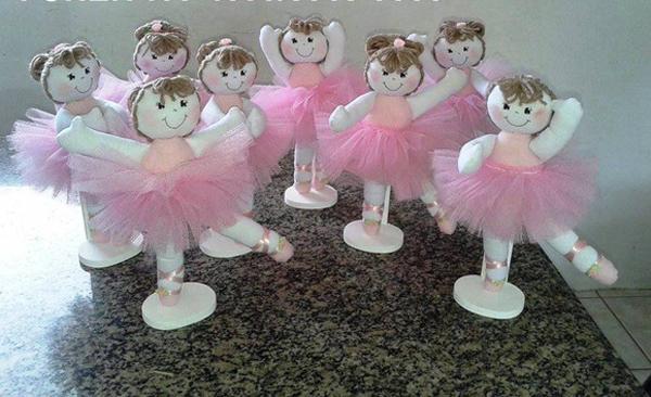 bailarina boneca de tecido
