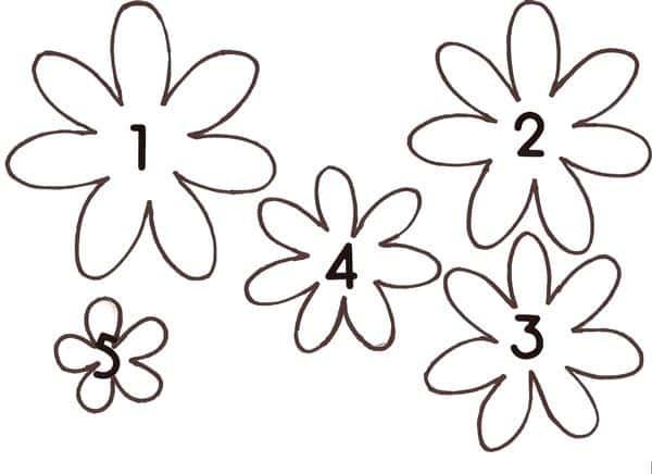 molde de flor em eva
