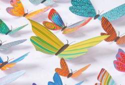molde borboleta papel