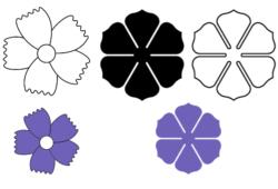 moldes de flores gigantes