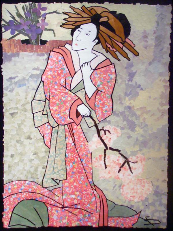 mosaico de papel gueixa