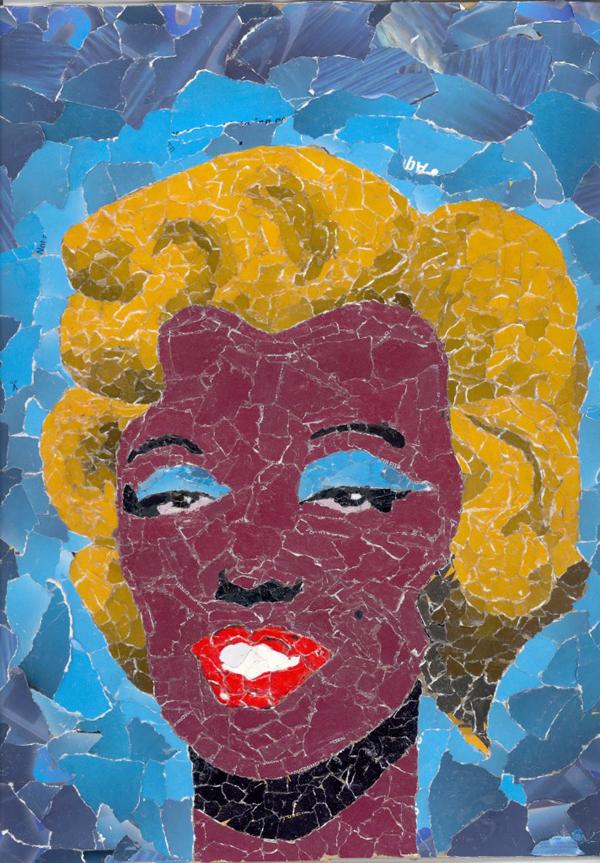 mosaico de papel Marilyn Monroe