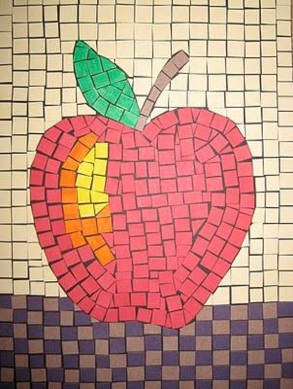 mosaico de papel maça