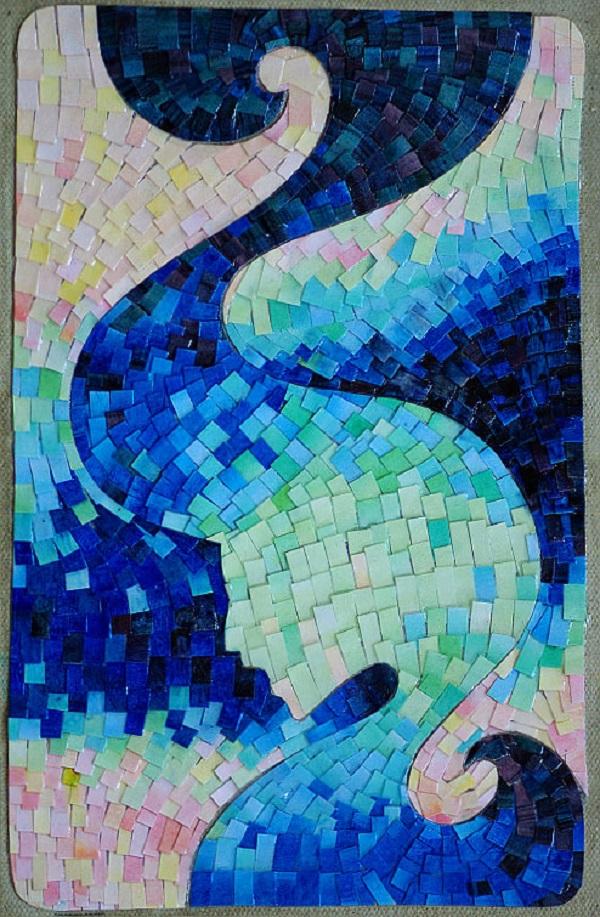 mosaico de papel onda
