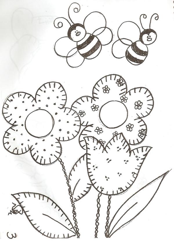 patchwork abelha molde