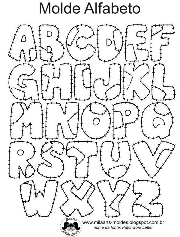 molde alfabeto patchwork