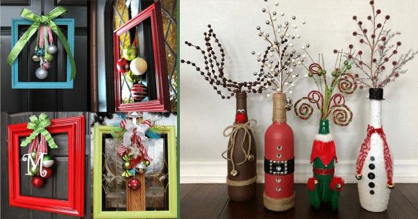Ideias baratas de reciclagem natal