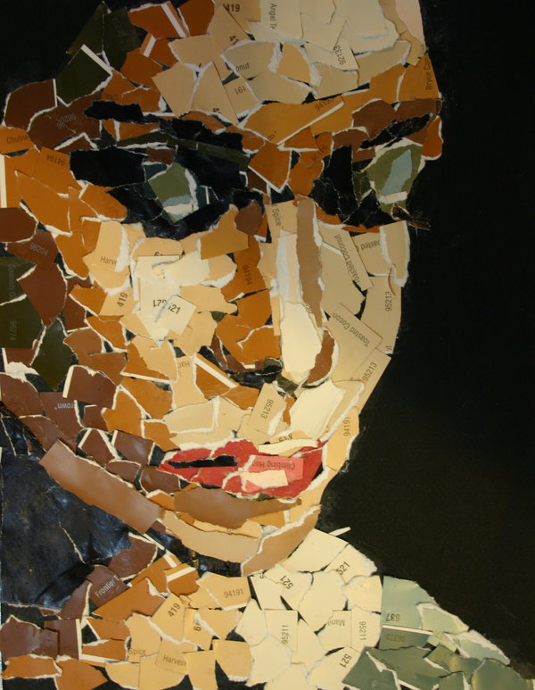 mosaico de papel arte