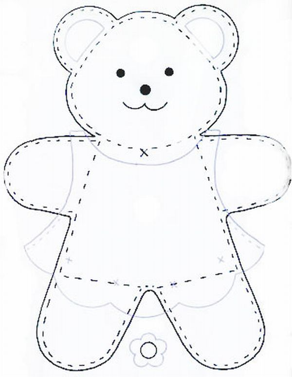 urso em feltro unissex