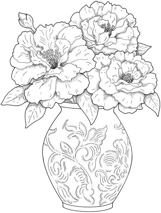 desenhos flores para colorir