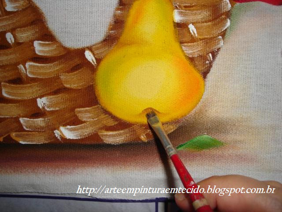 pintura em pano de prato simples