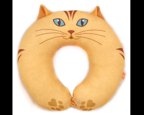 almofada artesanal de pescoço gato