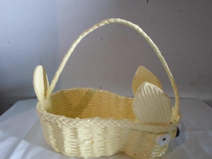 cestaria de jornal de coelho