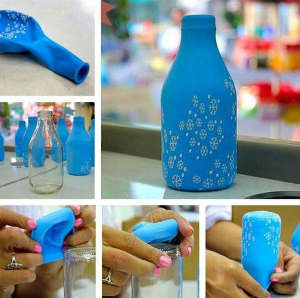 garrafa decorada com balão