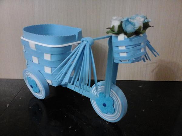 bicicleta  de pote de margarina